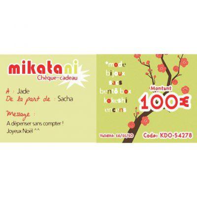 Chèque-cadeau 100€