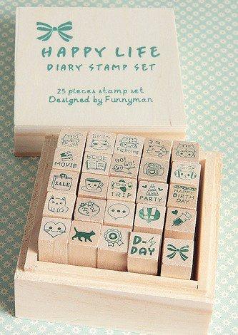 Set de tampons Kawaii Diary-Love