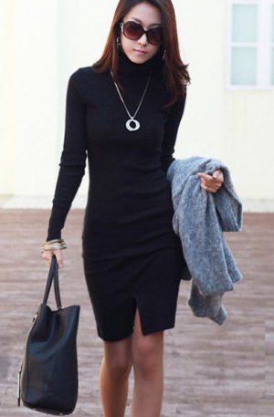 Robe elegant black