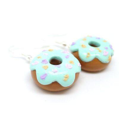 Boucles d'oreilles donuts mint