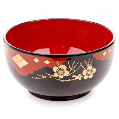 Bol japonais laqué noir pour Noodle