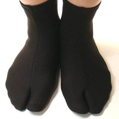 Chaussettes Japonaise Tabi étirables noires