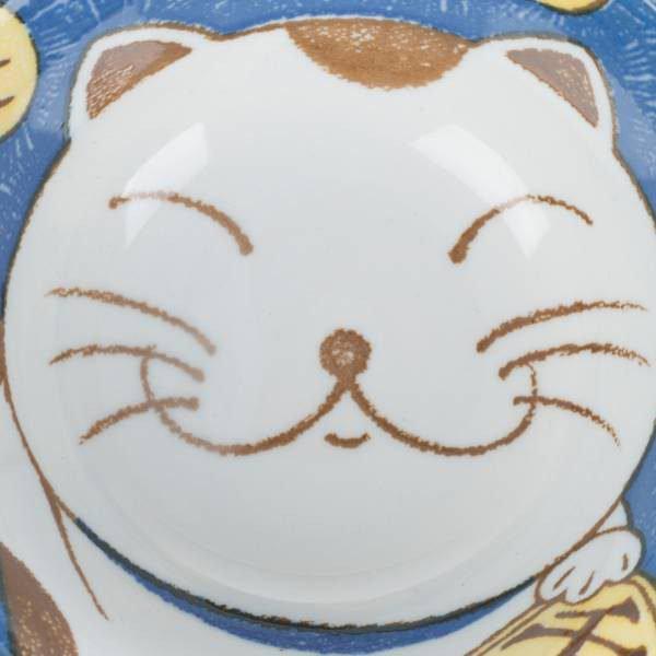 Ensemble de bols japonais chat bleu et rose