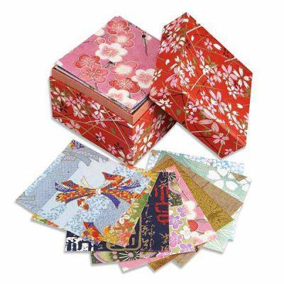 Boîte de papier Washi Origami