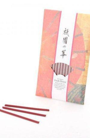 15 encens japonais bio fleurs fraiches