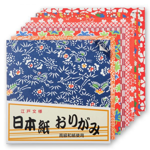 Paquet de papier origami japonais 40 feuilles moyennes