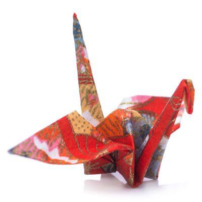 Pack 10 grues origami bleu