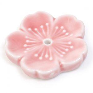 Support d'encens cerisier en fleur rose