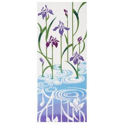 Serviette à main japonaise Iris violet Tenugui
