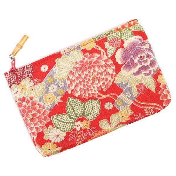 Sac de poche japonais Fleur Rouge