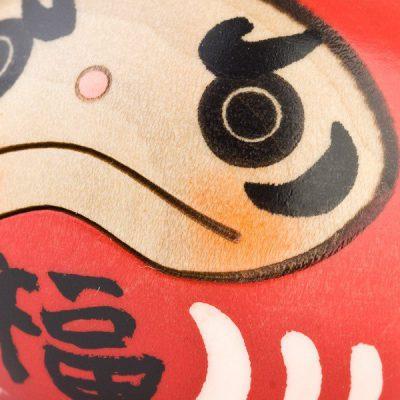 Daruma Kokeshi rouge porte bonheur