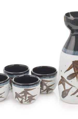 Ensemble japonais en céramique pour Sake