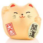 Petit chat porte bonheur Feng Shui de la bonne fortune