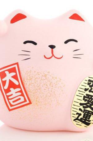 Petit chat chanceux Feng Shui de l'amour