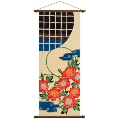 Support pour suspension de tapisserie japonaise