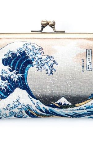 Porte monnaie japonaise Grande Vague