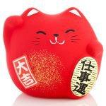 Petit chat porte bonheur Feng Shui pour la prospérité et la chance au travail