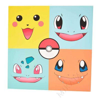 Toile imprimée inspirée Pokemon