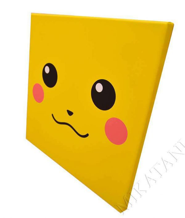 Toile imprimée inspirée Pikachu