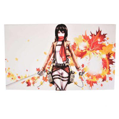 Toile imprimée inspirée de Mikasa Ackerman de l'attaque des titans