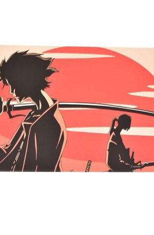 Toile imprimée inspirée de Samurai Champloo
