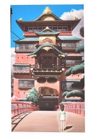 Toile inspirée du manga Le Voyage de Chihiro