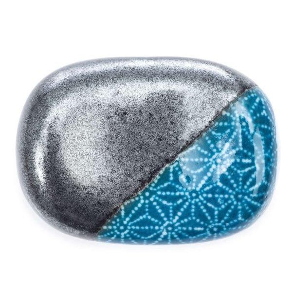 Repose baguettes japonaies bleu indigo Asanoha