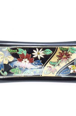 Repose baguettes japonaises floral noir