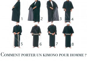 comment porter kimono homme