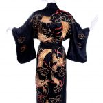 kimono soie dragon