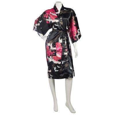Kimono femme court noir-1