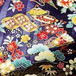 tissu kimono yuzen